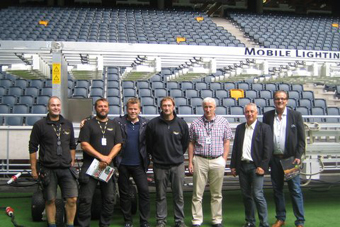 Mobile Lighting Rig (MLR), delivers Light Rigs to Friends Arena in Stockholm