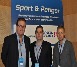 The Swedish Sport & Money Conference in Stockholm, Thursday to Friday, 29th -30th November 2012.