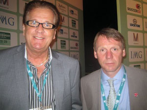 Geson & Stuart Pearce at Soccerex Forum in Manchester 28-29 March 2012.
